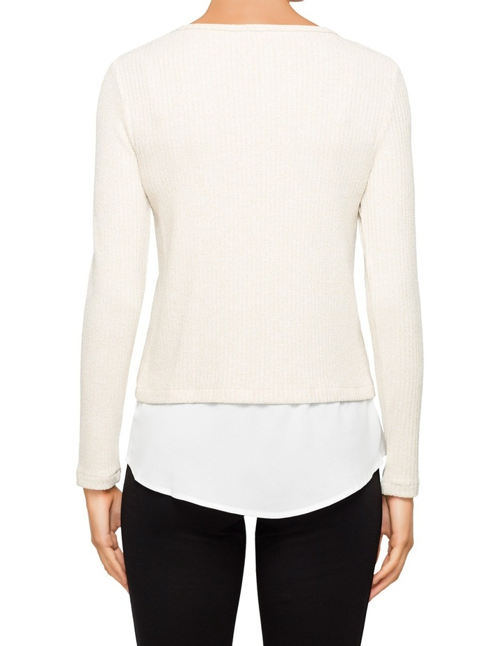 Lurex Knit Top with Decorate Shirt Detail image 2