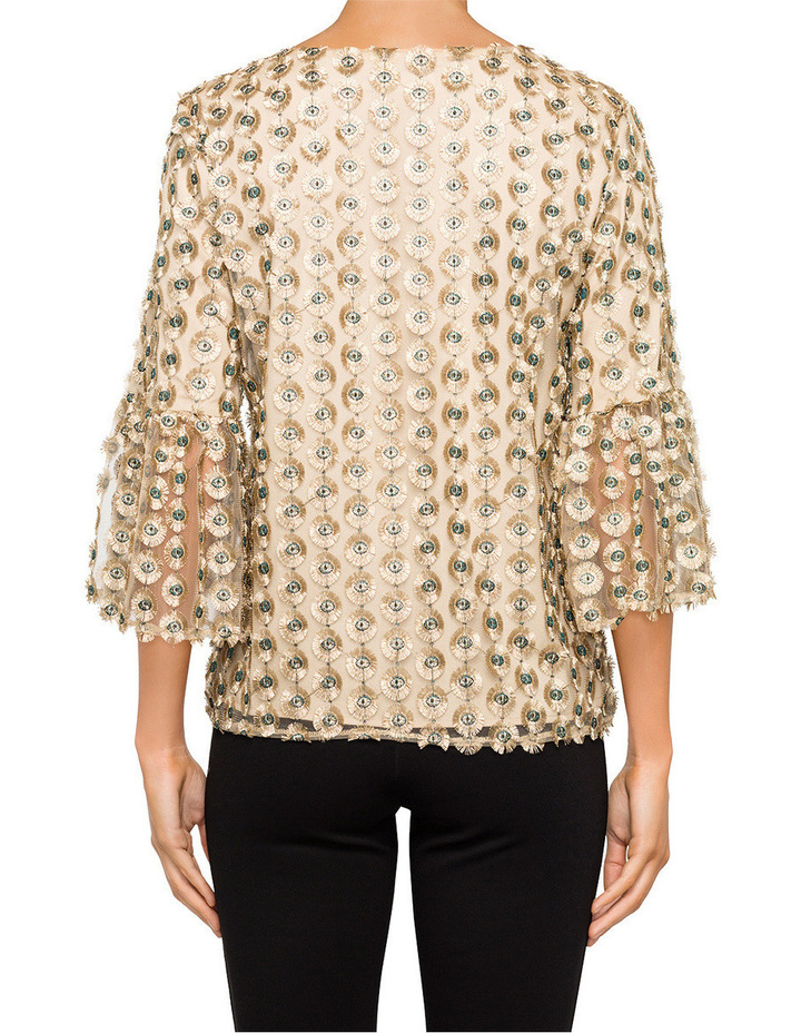 Embroidery Top with Bell Sleeve image 2