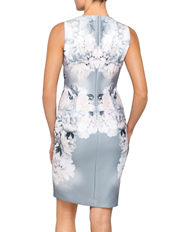 Calvin Klein White - Scuba Floral Print Dress