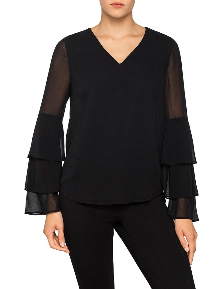 V Neck Tiered Sleeve Top image 1