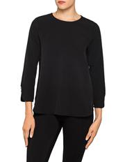 Calvin Klein White - Zip Back Bell Sleeve Top
