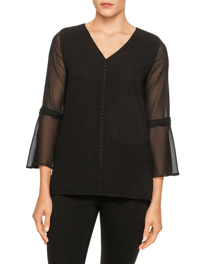 Fluted Sleeve Blouse image 1