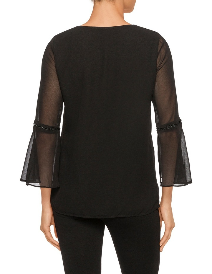 Fluted Sleeve Blouse image 2