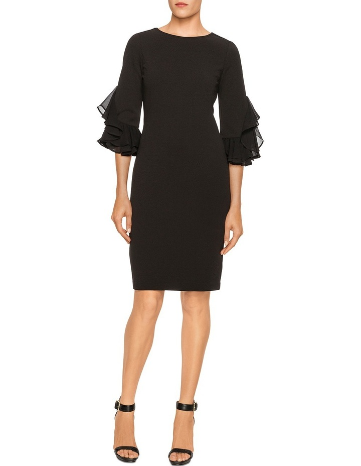 Ruffle Sleeve Shift Dress image 1