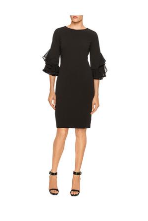 Calvin Klein White - Ruffle Sleeve Shift Dress