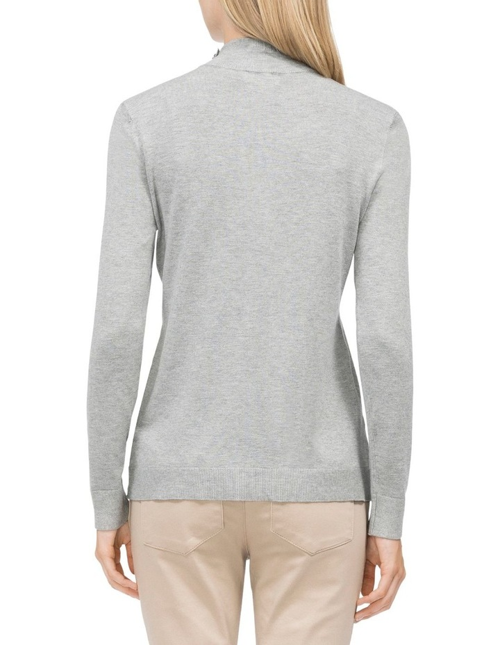 Mock Neck Button Pullover Sweater image 2