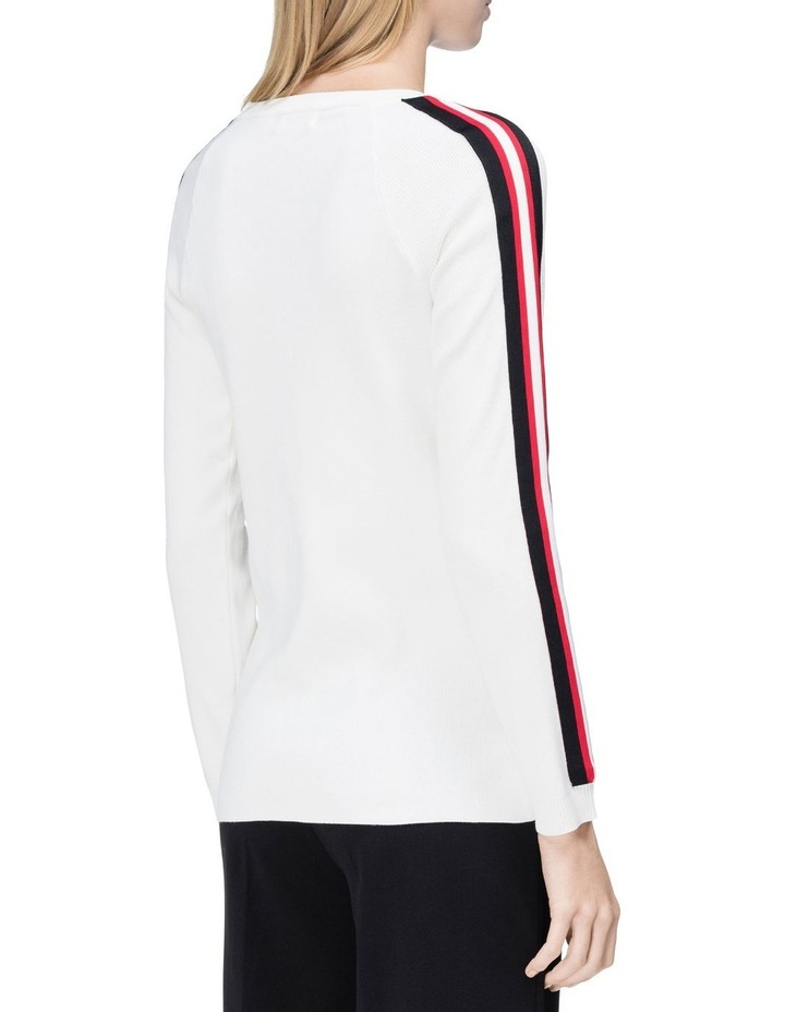 crew neck sweater with stripes image 2