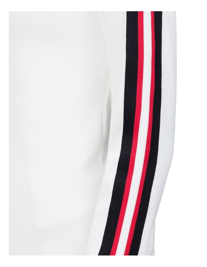 crew neck sweater with stripes image 3