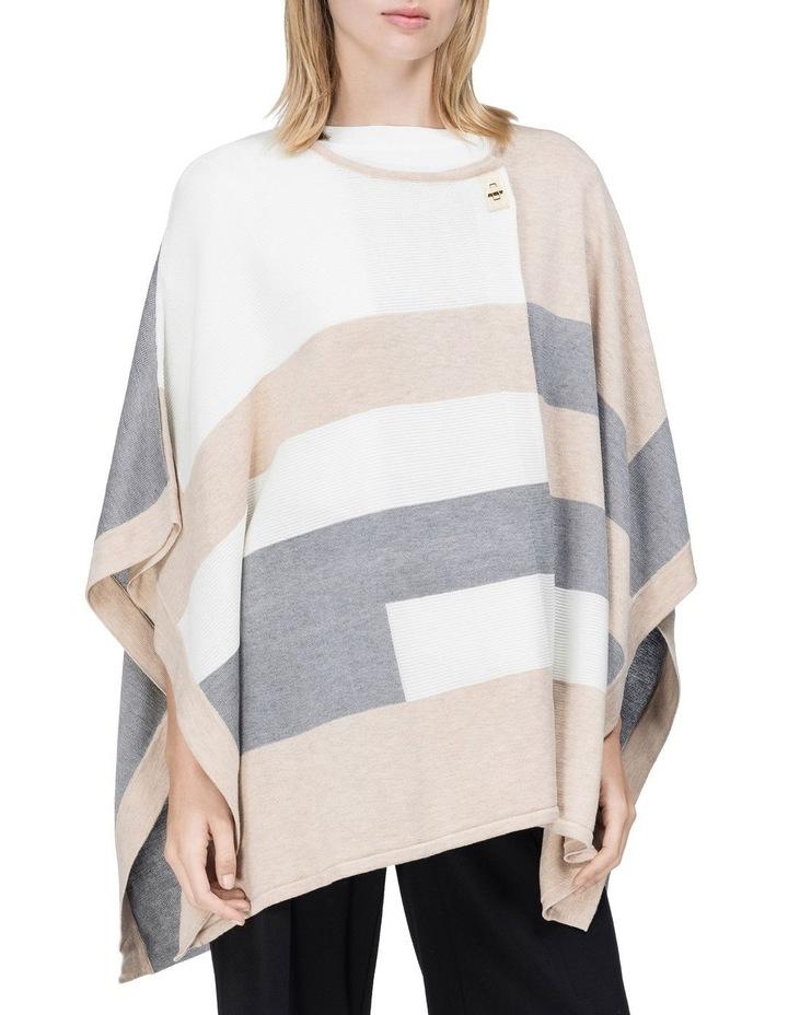striped knit poncho image 1