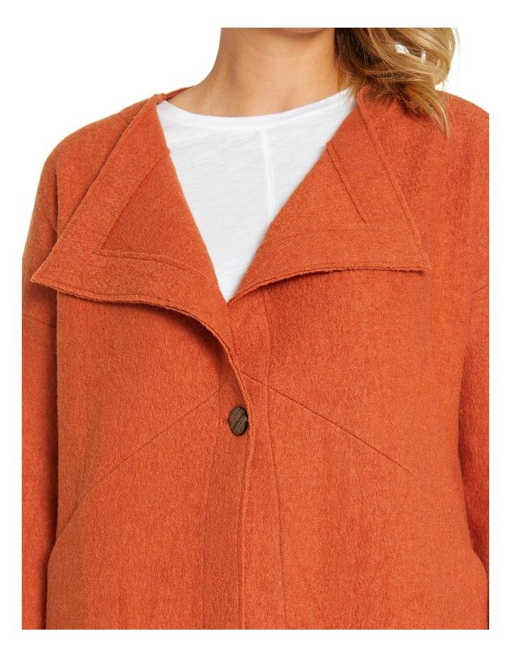 Long Sleeve Boiled Wool Coat image 4