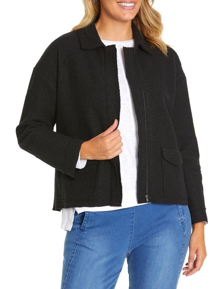 Long Sleeve Boiled Wool Jacket image 1