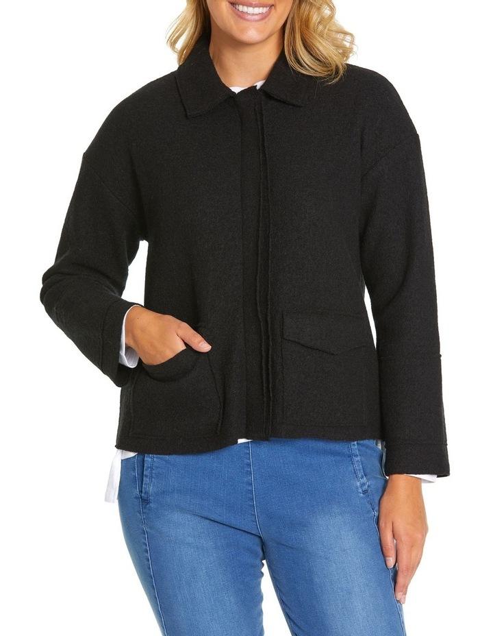 Long Sleeve Boiled Wool Jacket image 2