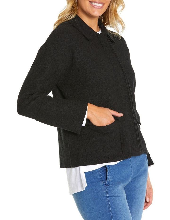 Long Sleeve Boiled Wool Jacket image 3