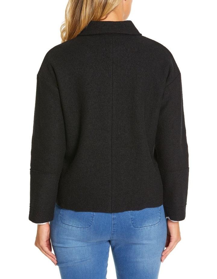 Long Sleeve Boiled Wool Jacket image 4
