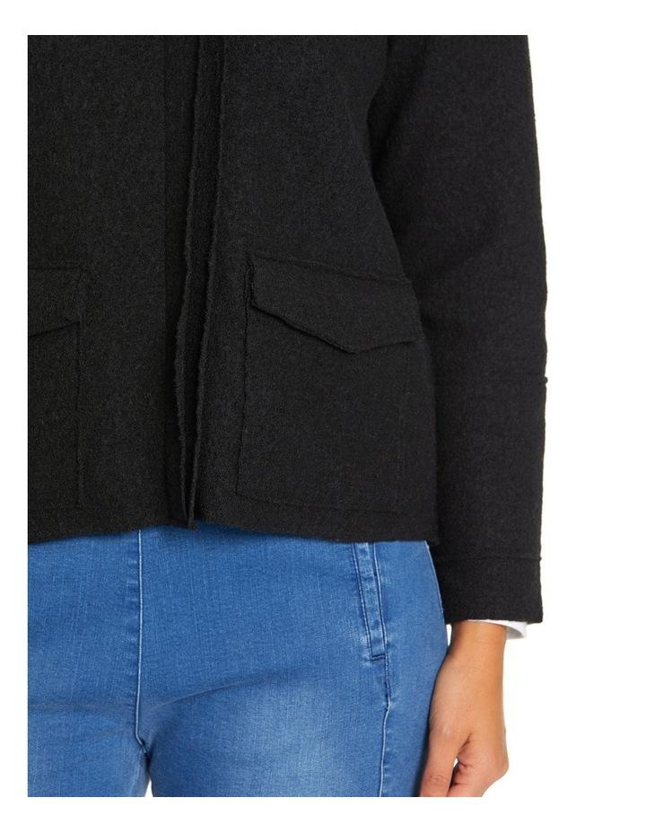 Long Sleeve Boiled Wool Jacket image 5