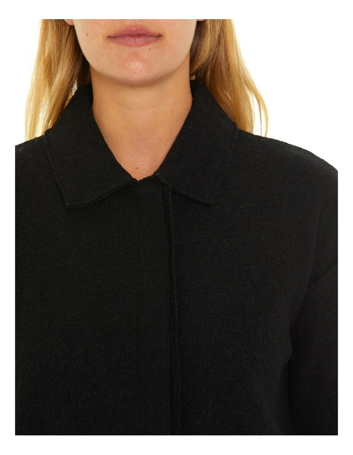 Long Sleeve Boiled Wool Jacket image 6