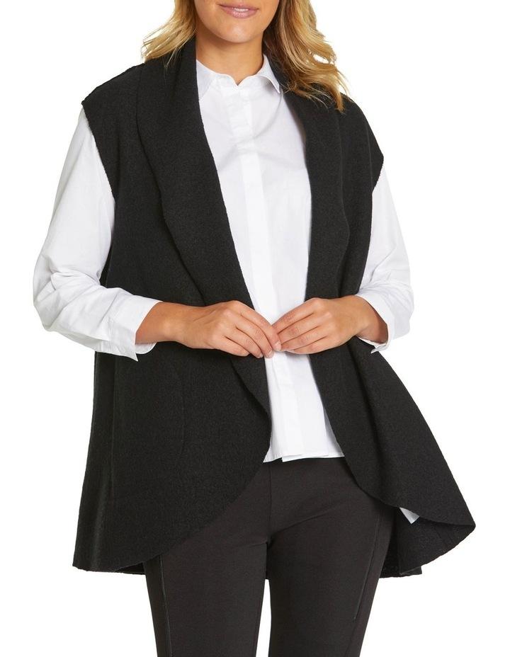 Draped Boiled Wool Vest image 2