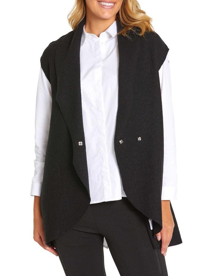 Draped Boiled Wool Vest image 3