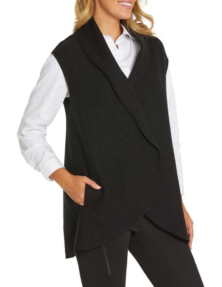Draped Boiled Wool Vest image 4