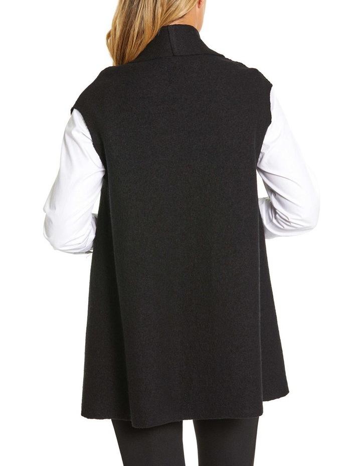 Draped Boiled Wool Vest image 5