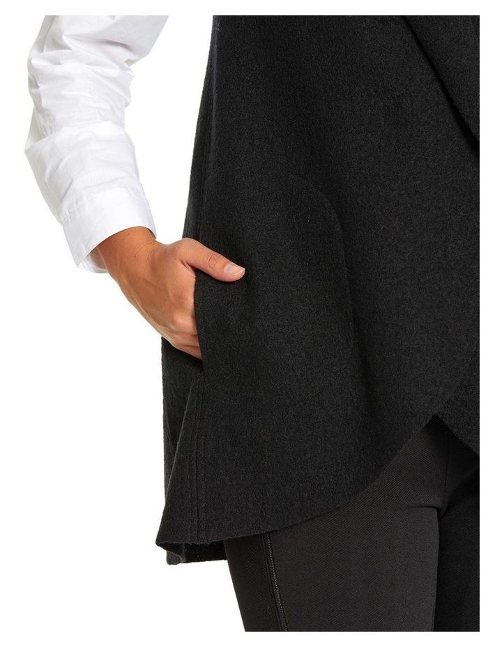 Draped Boiled Wool Vest image 6