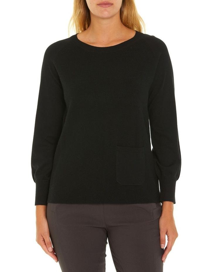 Long Sleeve Pocket Sweater image 1