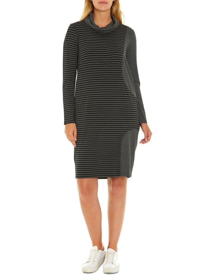 Long Sleeve Relaxed Stripe Dress image 1
