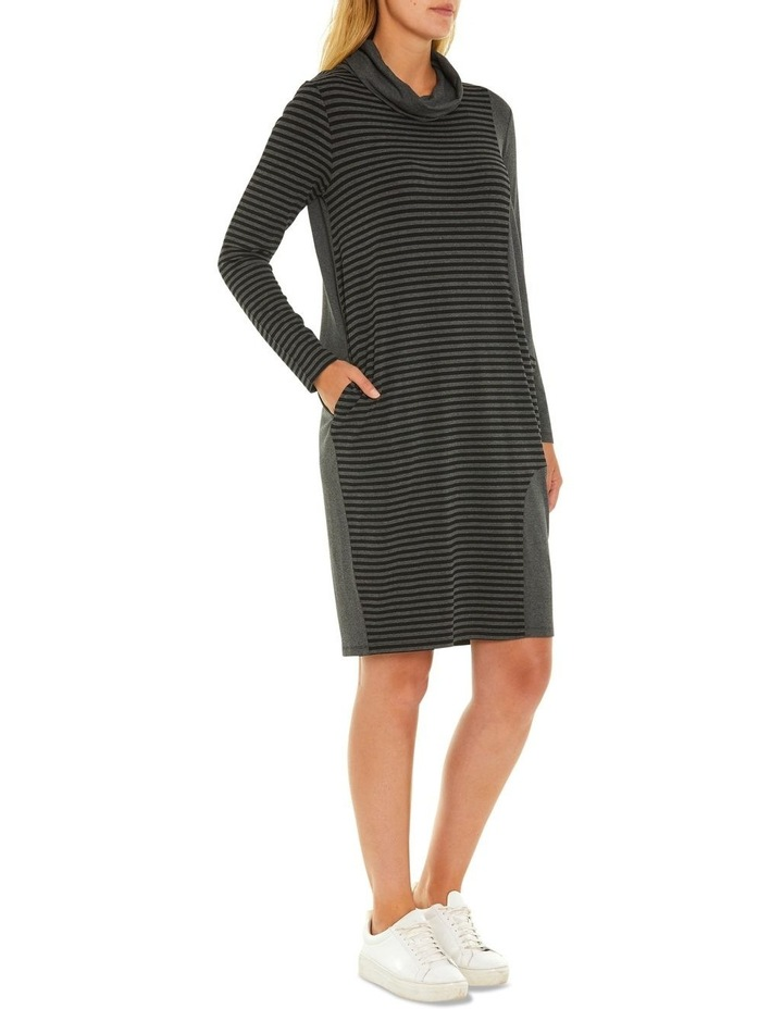 Long Sleeve Relaxed Stripe Dress image 2