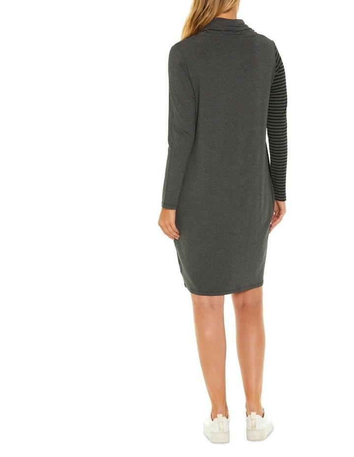 Long Sleeve Relaxed Stripe Dress image 3