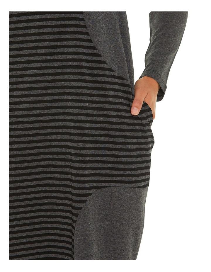 Long Sleeve Relaxed Stripe Dress image 4