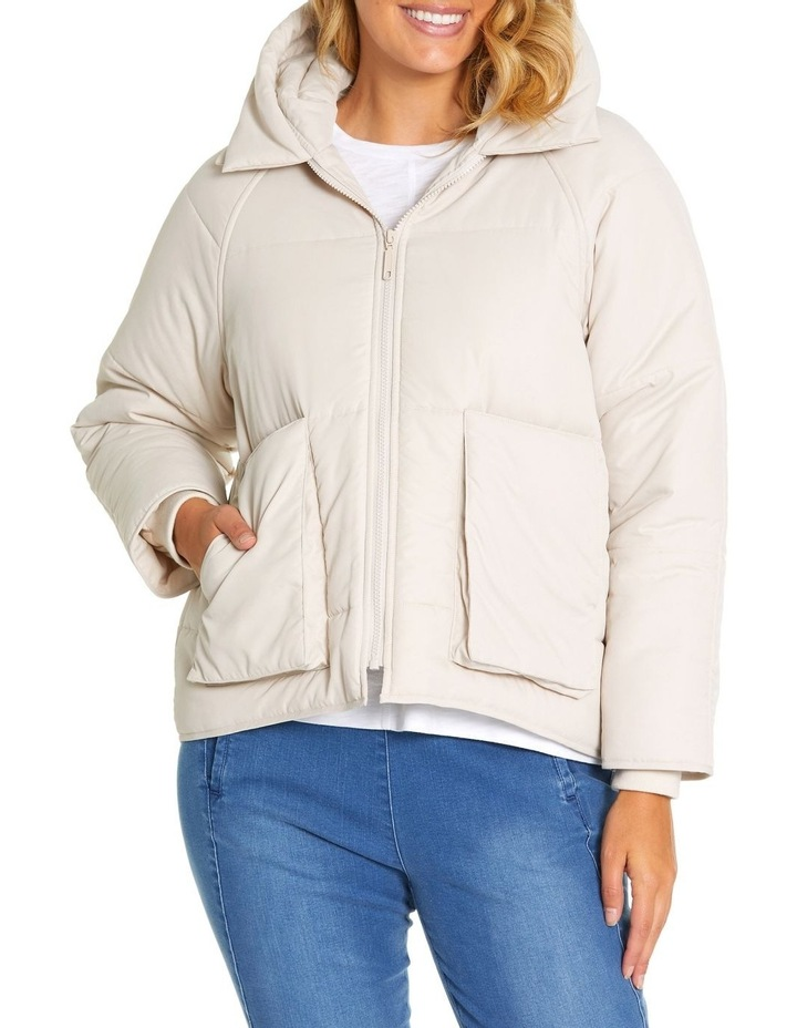 Long Sleeve Relaxed Puffer Jacket image 1