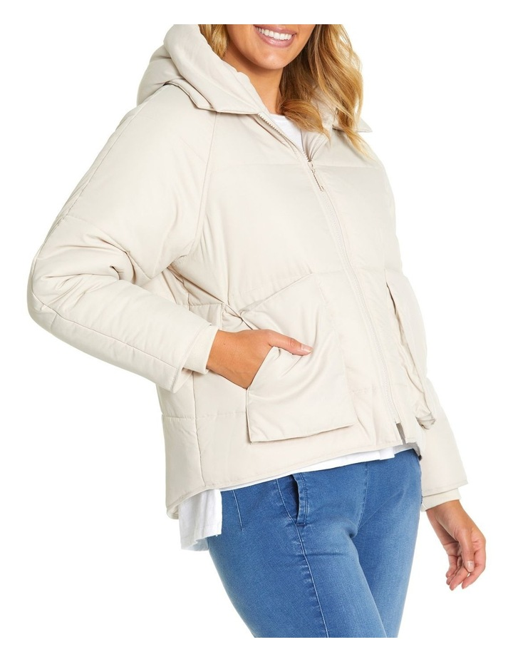 Long Sleeve Relaxed Puffer Jacket image 2