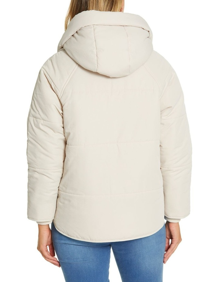 Long Sleeve Relaxed Puffer Jacket image 3