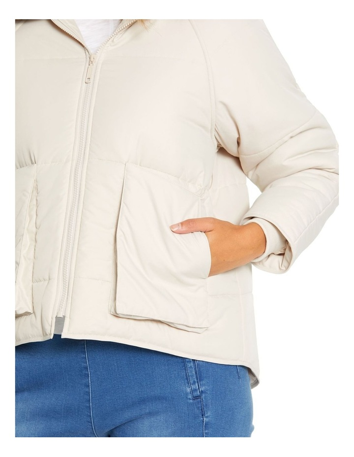 Long Sleeve Relaxed Puffer Jacket image 4