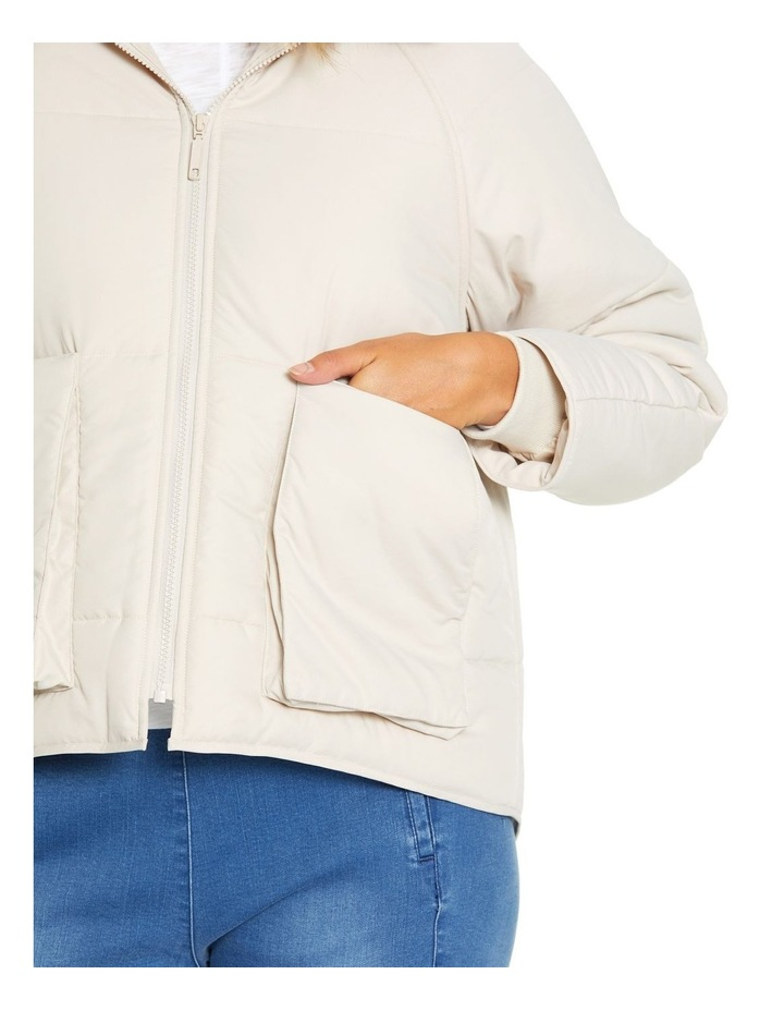 Long Sleeve Relaxed Puffer Jacket image 5
