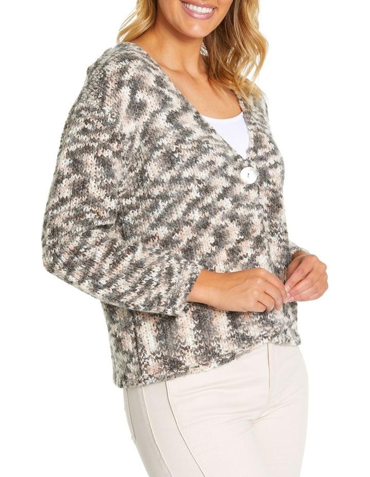 Long Sleeve Mix Knit Cardi image 2