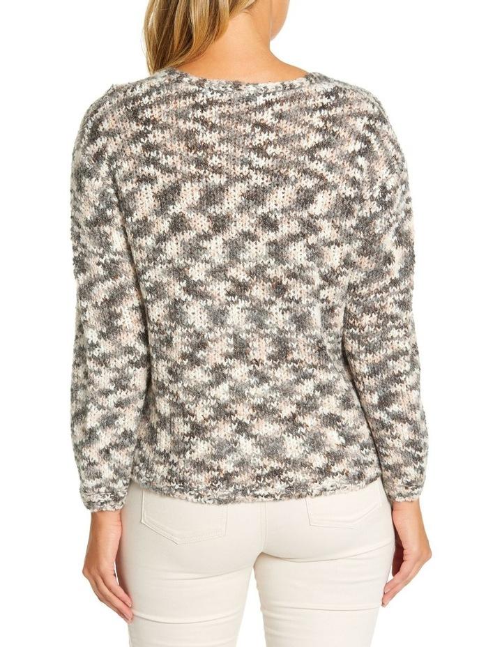 Long Sleeve Mix Knit Cardi image 3