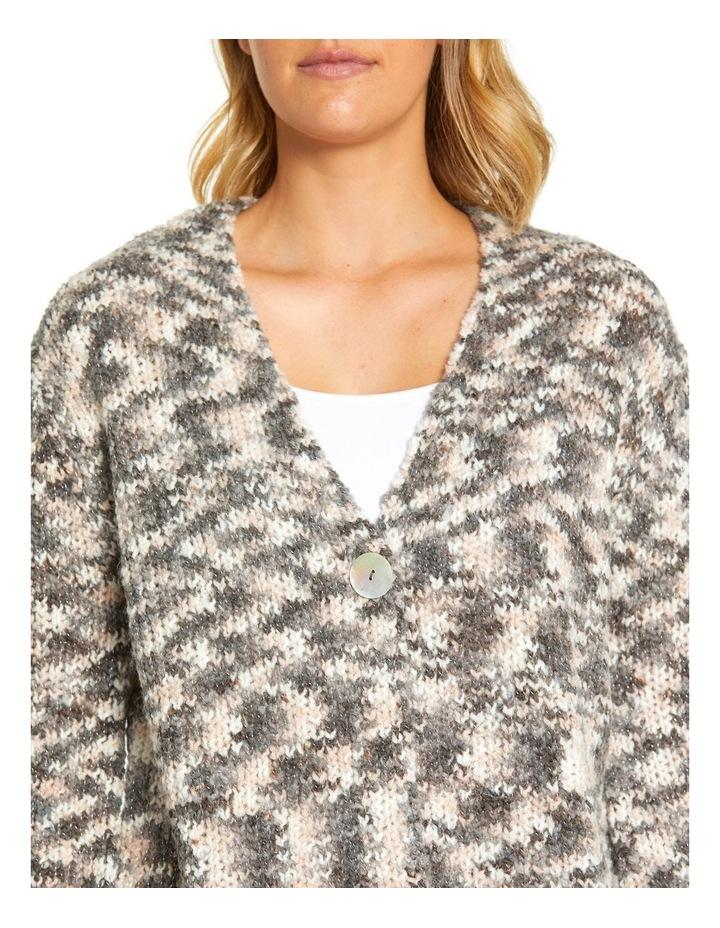 Long Sleeve Mix Knit Cardi image 4
