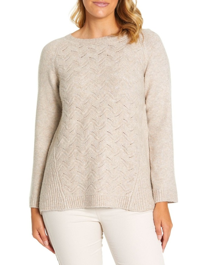 Long Sleeve Wave Cable Knit image 1