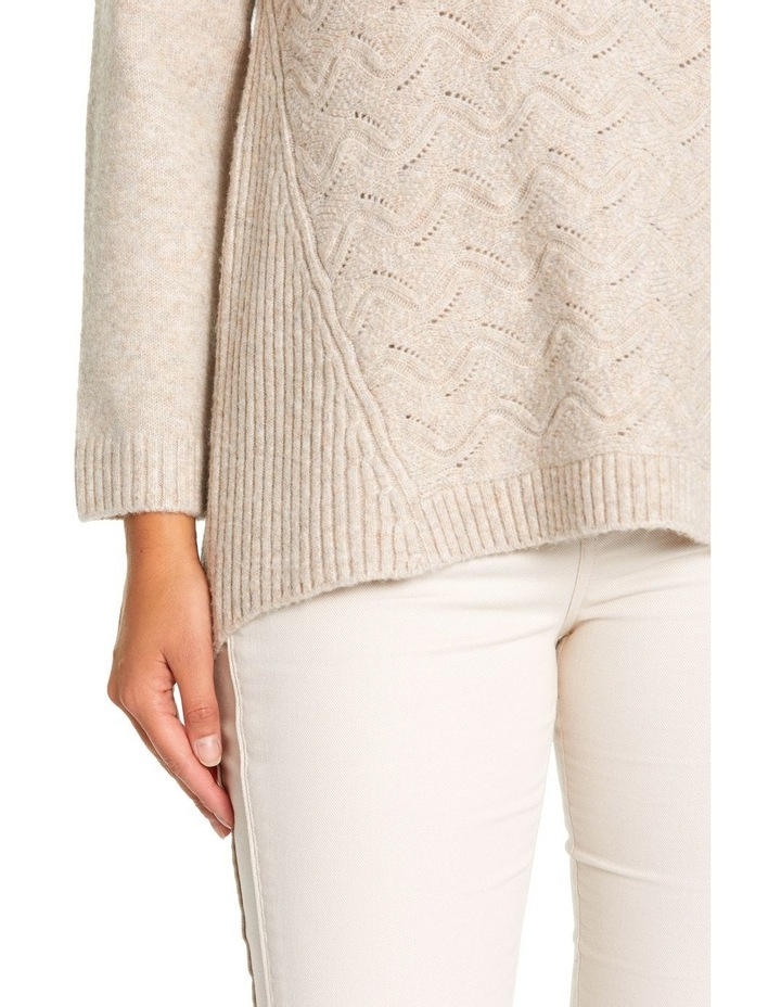 Long Sleeve Wave Cable Knit image 4