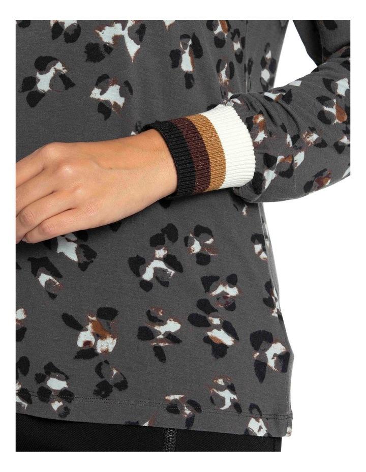 Long Sleeve Cuff Trim Tee image 6