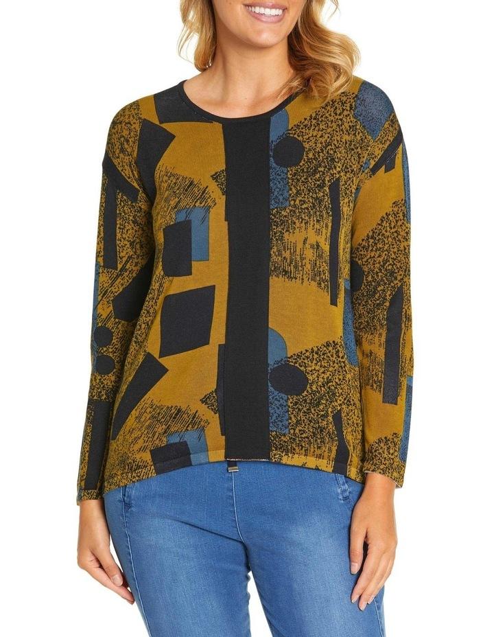 Long Sleeve Contrast Panel Sweater image 1