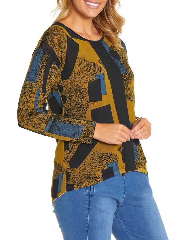 Long Sleeve Contrast Panel Sweater image 2