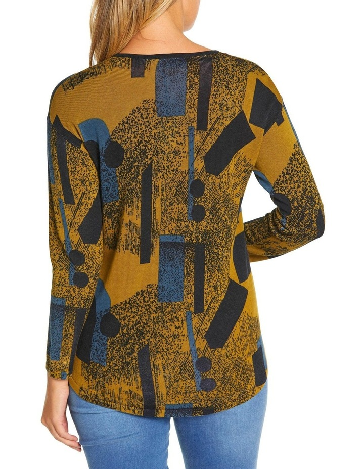 Long Sleeve Contrast Panel Sweater image 3
