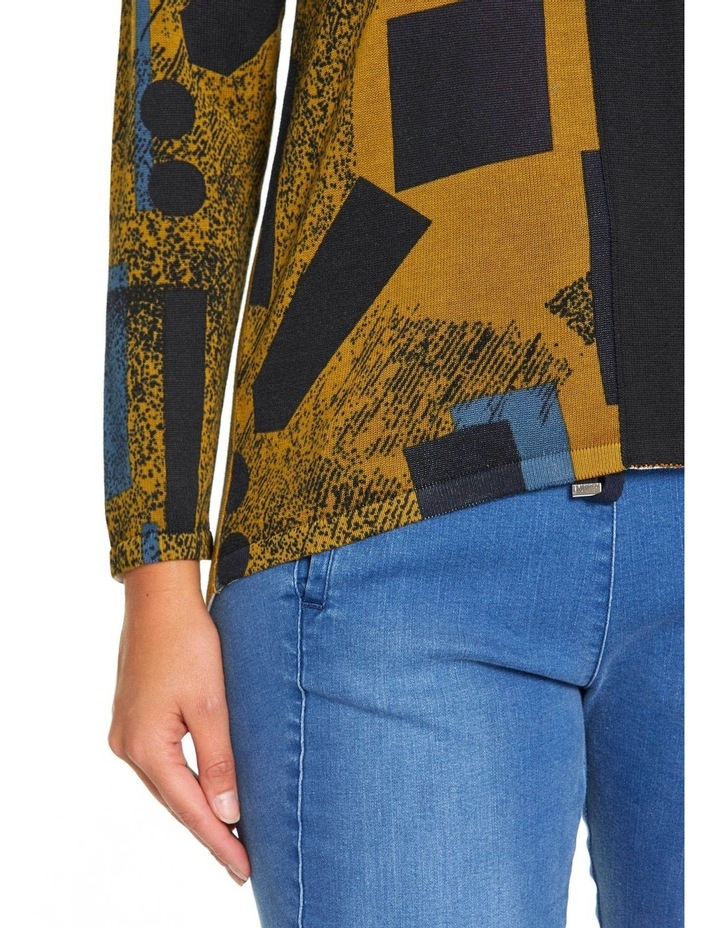 Long Sleeve Contrast Panel Sweater image 4