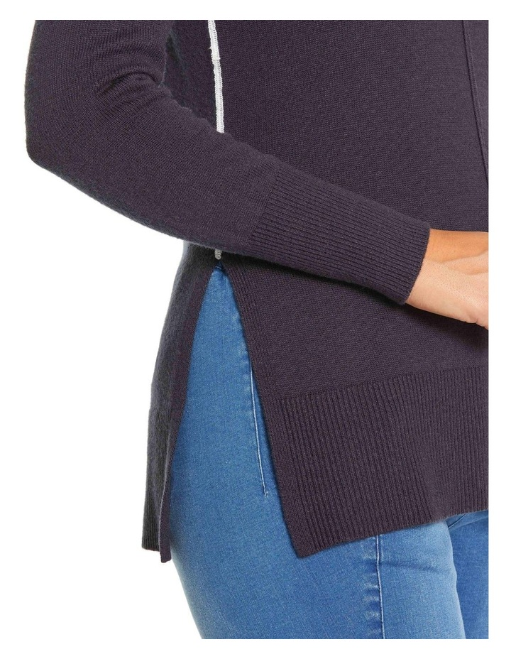 Long Sleeve Contrast Stitch Sweater image 4