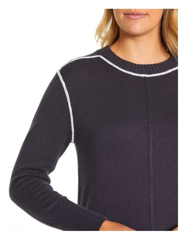 Long Sleeve Contrast Stitch Sweater image 5