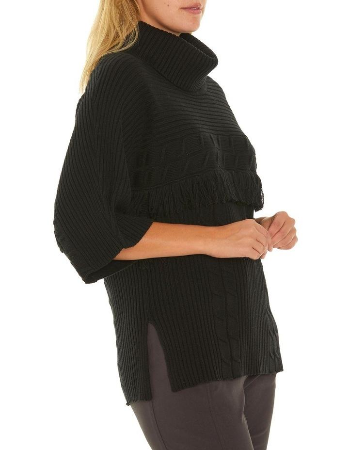 3/4 Sleeve Fringe Sweater image 2