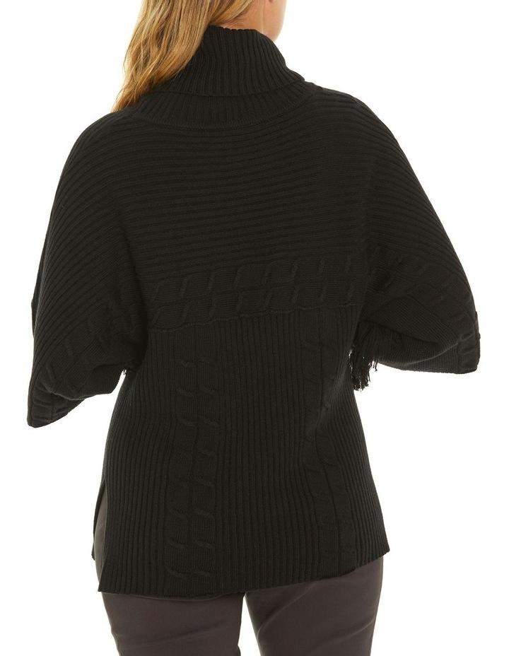 3/4 Sleeve Fringe Sweater image 3