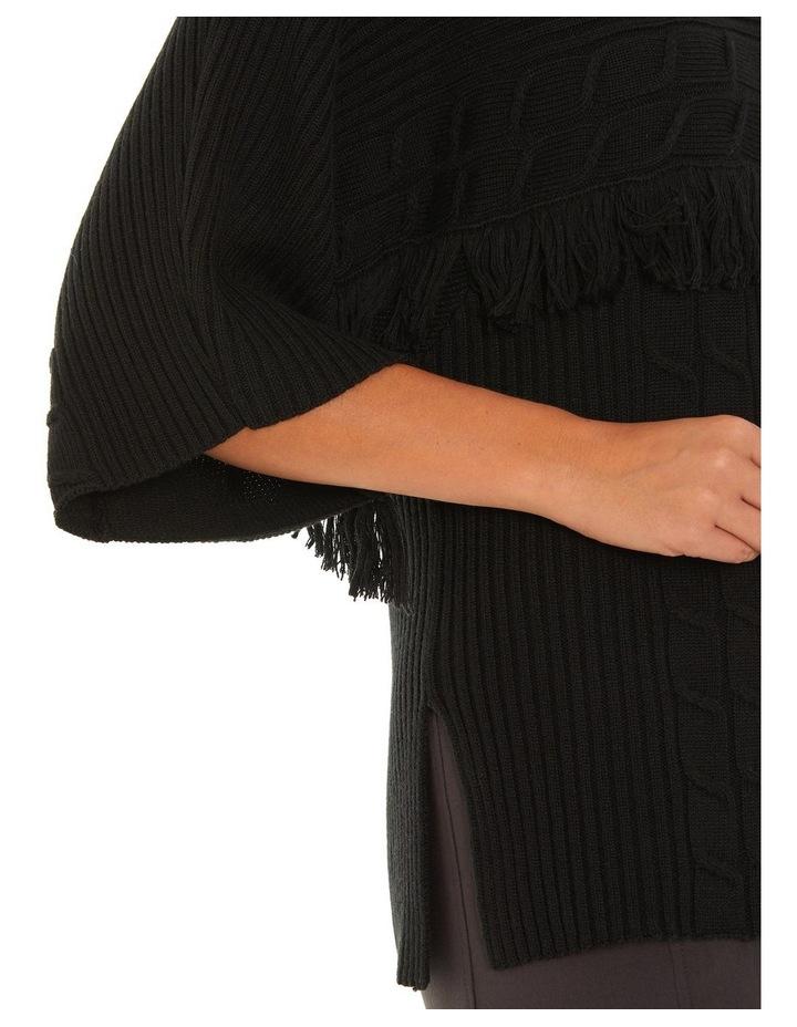 3/4 Sleeve Fringe Sweater image 4